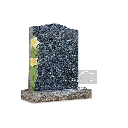 The Sutton Granite Headstone Blue Pearl
