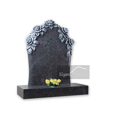 The Everett Granite Headstone Bahama Blue
