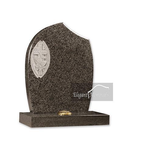The Praying Granite Headstone South African Dark Grey
