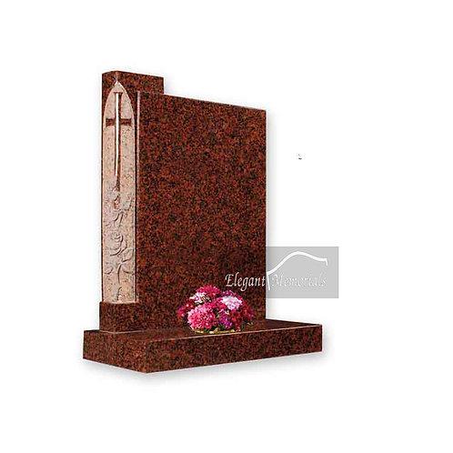 The Rose Binder Granite Headstone Balmoral Red