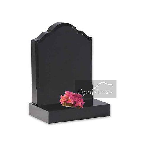 The Acton Granite Headstone Black