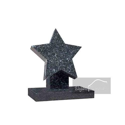 The Star Granite Headstone Blue Pearl