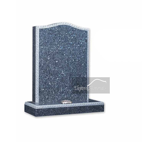 The Hayle Granite Headstone Blue Pearl