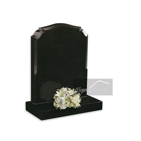 The Derby M Ogee Granite Headstone Black