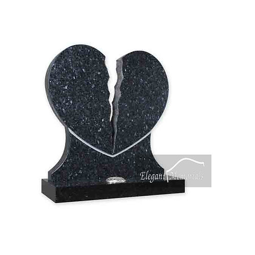 The Denton Heart Granite Headstone Blue Pearl