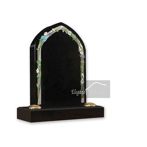 The Tenby Granite Headstone Black