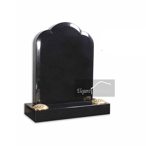 The Howden Granite Headstone Black