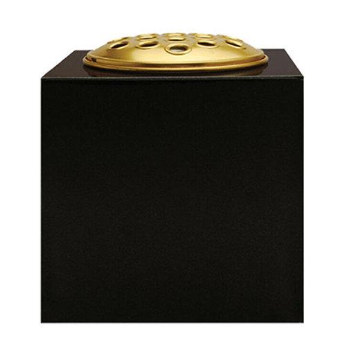 Black Premium Polished Granite Flower Vase