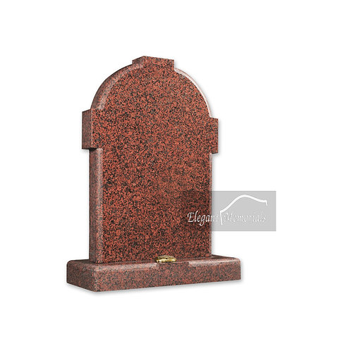 The Keswick Granite Headstone Balmoral Red