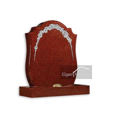 The Whitworth Granite Headstone Ruby Red