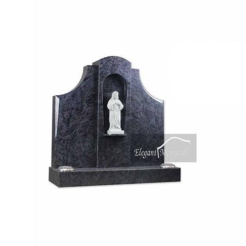 The Hereford Granite Headstone Bahama Blue