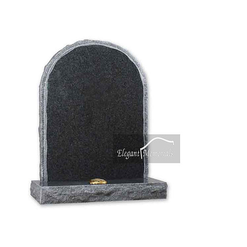 The Horwich Granite Headstone South African Dark Grey
