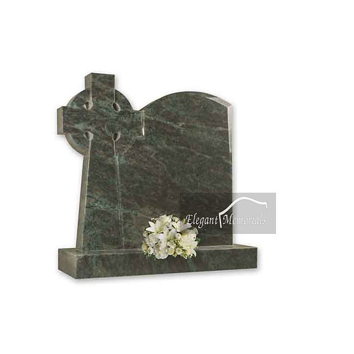 The Galway Granite Headstone Tropical Green