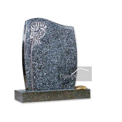 The horley Granite Headstone Blue Pearl