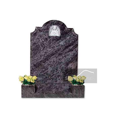 The Cromer Granite Headstone Bahama Blue