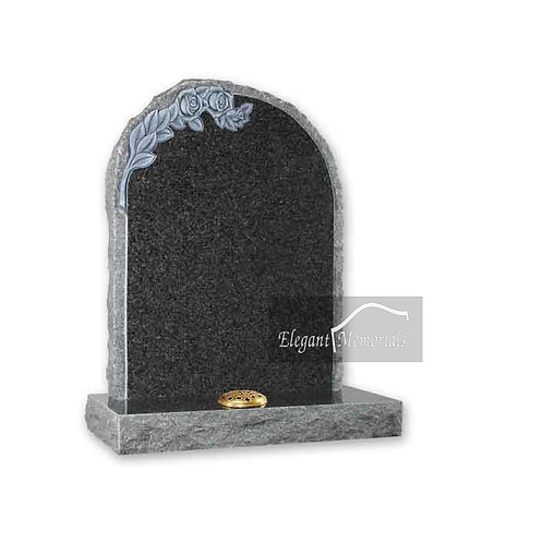 The Kendal Granite Headstone South African Dark Grey