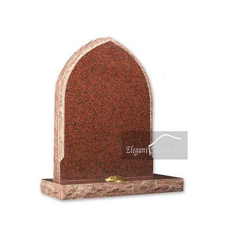 The Burford Granite Headstone Balmoral Red