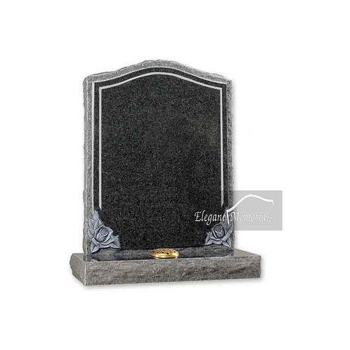 The Croydon Granite Headstone South African Dark Grey