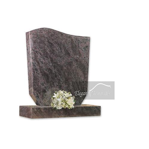 The Wave Granite Headstone Bahama Blue