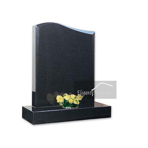 The Leyburn Granite Headstone Black