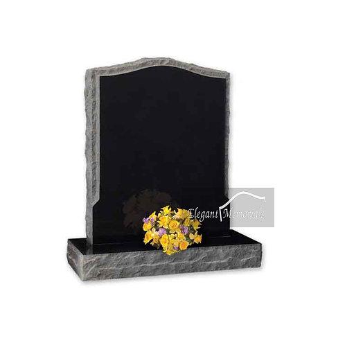 The Birkdale Granite Headstone Black