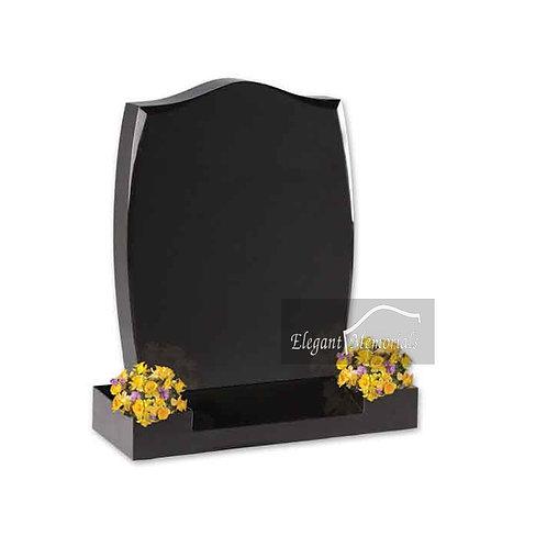 The Longridge Granite Headstone Black