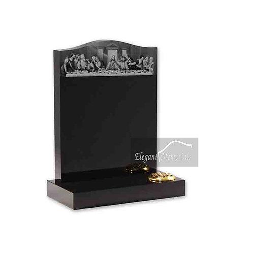 The Ogee Top Granite Headstone Black