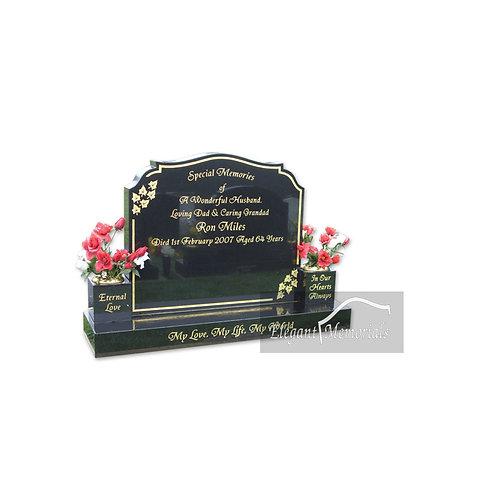 The Watton Granite Headstone Black