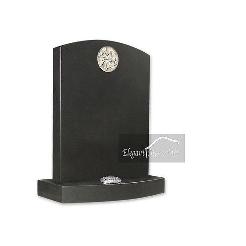 The Camforth Granite Headstone Black