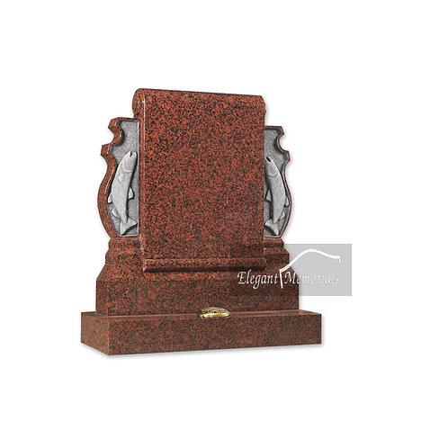 The Barrington Granite Headstone Balmoral Red