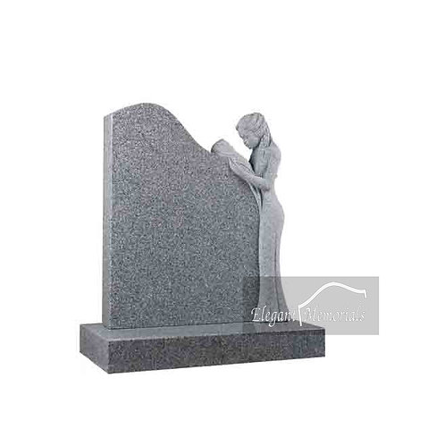 The Gloria Granite Headstone Arctic Grey