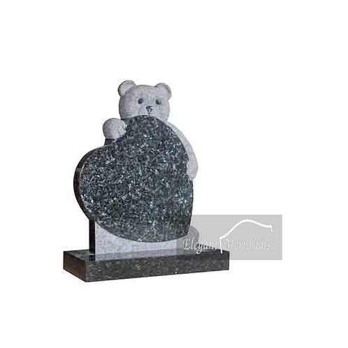 Ralp Bear Granite Headstone Blue Pearl
