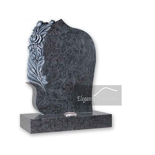 The Rosette Granite Headstone Bahama Blue