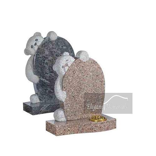Charlie Bear Granite Headstone Bahama Blue & Rose Pink