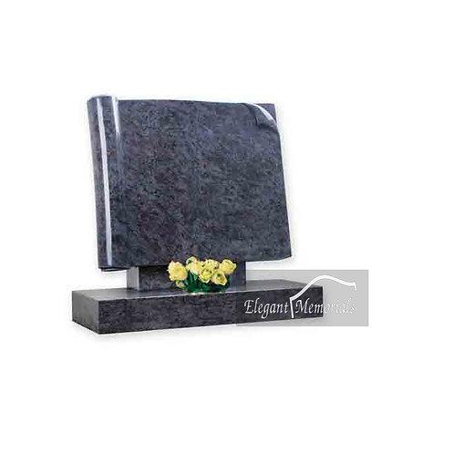 The Newark Book Set Granite Headstone Bahama Blue