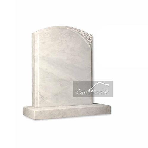 The Hadleigh Granite Headstone Italian Carrara Marble