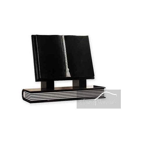 The Marana Book Set Granite Headstone Black