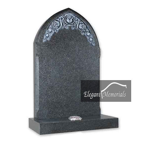 Gothic Granite Headstone Grey