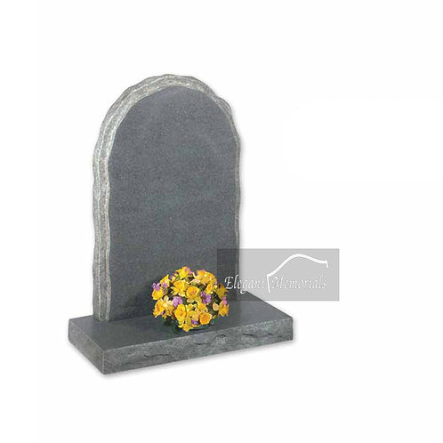 The Penrith Granite Headstone Deep Dark Grey