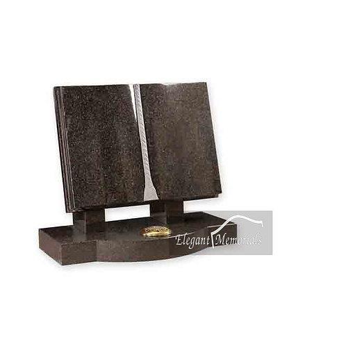 The Didsbury Book Set Granite Headstone South African Dark Grey