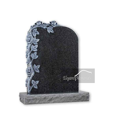 The Coleford Granite Headstone South African Dark Grey