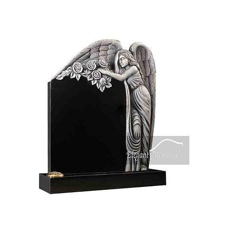 The Halewood Granite Headstone Black