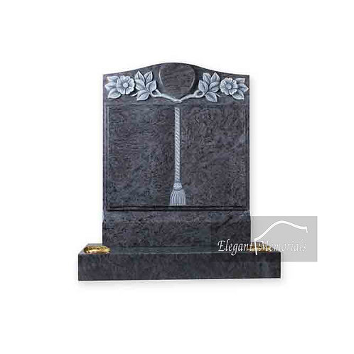 The Brunswick Book Set Granite Headstone Bahama Blue