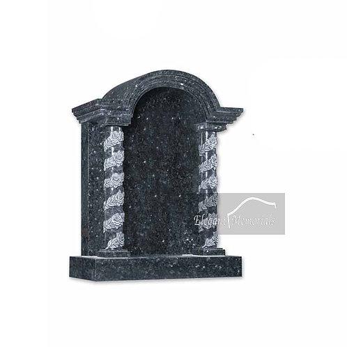 The Richmond Temple Granite Headstone Blue Pearl