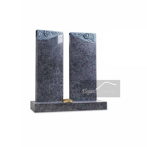 The Meldrum Granite Headstone Bahama Blue