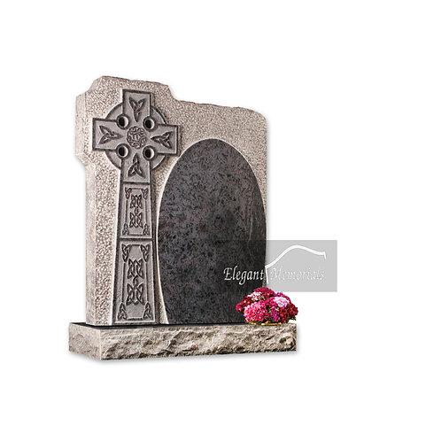 The Sandown Granite Headstone Bahama Blue