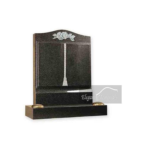 The Harrow Book Set Granite Headstone South African Dark Grey