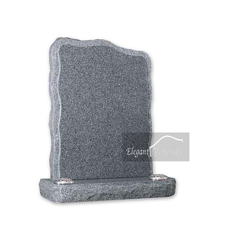 The Rugby Granite Headstone Arctic Grey