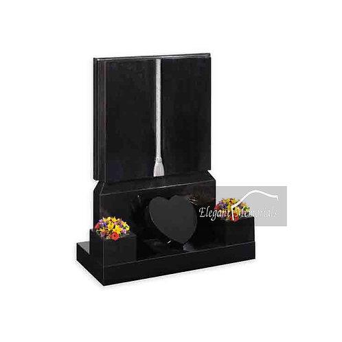 The Tiverton Book Set Granite Headstone Black