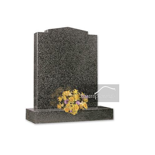 The Stamford Granite Headstone South African Dark Grey